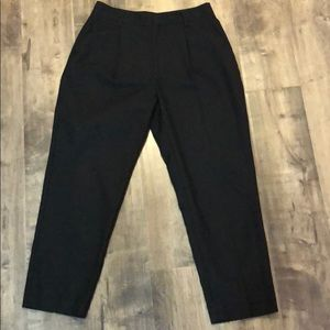 OAK + FORT cropped straight leg trousers